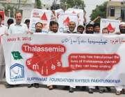 پشاور: الخدمت فاؤنڈیشن کے زیر اہتمام تھیلیسیمیا ڈے کے حوالے سے واک ..