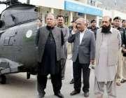 گلگت: نگران وزیر اعلیٰ شیر جہان میر، فورس کمانڈر میجر جنرل سید عاصم ..