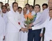 راولپنڈی: بینظیر بھٹو ہسپتال میں نرسوں کے عالمی دن کے موقع پر ایم ایس ..