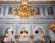 مکہ مکرمہ: مسجد الحرام کے نئے تعمیر کئے جانے والے بلاک کا ایک منظر۔