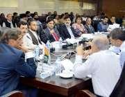 مظفر آباد: آزاد کشمیر کے وزیر خزانہ چوہدری لطیف اکبر مختلف محکمہ جات ..