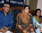 کراچی: پریس کلب میں پاکستان نیشنل فورم کے تحت ڈاکٹر حلیمہ یاسمین پریس ..