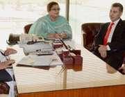 اسلام آباد: ڈپٹی چیئر مین سینٹ مولانا عبدالغفور حیدری سے ڈائریکٹر پاک ..