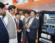 لاہور: وزیر معدنیا ت چوہدری شیر علی خان ایکسپو سنٹر میں منعقدہ عالمی ..