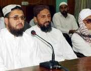 پشاور: راح حق پارٹی کے صوبائی صدر محمد ابراہیم قاسمی پریس کانفرنس سے ..