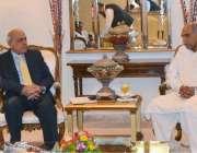 اسلام آباد: گورنر پنجاب ملک محمد رفیق رجوانہ سے اسلام آباد پنجاب ہاؤس ..