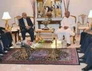 اسلام آباد: گورنر پنجاب ملک محمد رفیق رجوانہ سے اسلام آبادپنجاب ہاؤس ..