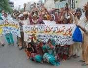 لاہور: سمندری کے رہائشی مقامی پولیس کی طرف سے انصاف نہ ملنے پر پریس ..