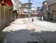 پشاور: تاجر برادری کی جانب سے ہڑتال کے باعث بازار بند پڑے ہیں۔