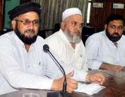 پشاور: خیبر یونین خیبر ایجنسی کے مرکزی صدر بازاد گل پریس کانفرنس سے ..