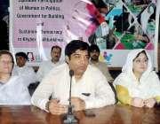 پشاور: خیبر پختونخوا سول سوسائٹی کے زیر اہتمام کو آرڈینیٹر کمر نسیم ..