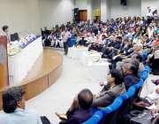 لاہور: صوبائی وزیر تعلیم رانا مشہود احمد خان لمز یونیورسٹی میں منعقدہ ..