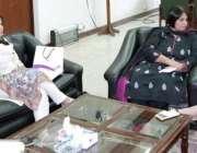 لاہور: صوبائی وزیر خزانہ ڈاکٹر عائشہ غوث پاشا فرسٹ ویمن بنک کی صدر سے ..