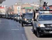راولپنڈی: چہلم شہدائے کربلہ کے موقع پر پولیس اور رینجر کا راولپنڈی ..