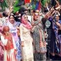 حیدر آباد: پیپلز پارٹی کی طرف سے احتجاجی ریلی نکالی جا رہی ہے۔