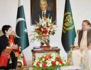 اسلام آباد: وزیر اعظم محمد نواز شریف سے اقوام متحدہ میں پاکستان کی مستقل ..
