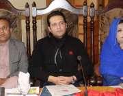 مظفر آباد: رکن قانون ساز اسمبلی بیرسٹر افتخار تقریب میں شریک ہیں۔