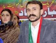 پشاور: ڈاکٹر اسرار احمد پی ٹی آئی میں شمولیت کے بعد پریس کانفرنس سے ..
