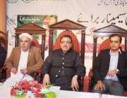 راولپنڈی: صوبائی وزیر محنت و افرادی قوت راجہ اشفاق سرور، ڈاکٹر جمال ..