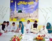 حیدر آباد: نجی تعلیمی ادارے امساء میں جشن عید ملادالنبی (ص) کی محفل میں ..