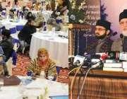 لاہور: پاکستان عوامی تحریک کے سربراہ ڈاکٹر طاہرالقادری منہاج القرآن ..