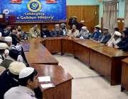 پشاور: فاٹا سیاسی اتحاد کے زیر اہتمام منعقدہ سیمینار سے دیگر قائدین ..