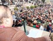 نکیال: کشمیر پی ٹی آئی کے صدر بیرسٹر سلطان محمود چوہدری جلسہ عام سے ..