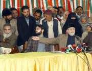 لاہور: پاکستان عوامی تحریک کے سربرائے ڈاکٹر طاہرالقادری ماڈل ٹاؤن ..