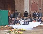لاہور: وزیر اعلیٰ پنجاب محمد شہباز شریف بادشاہی مسجد خود روزگار سکیم ..