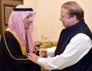 اسلام آباد: سعودی وزیر خارجہ عادل بن احمد الجبیروزیر اعظم محمد نواز ..