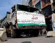راولپنڈی: تجاوزات آپریشن کے دوران ریڑھی بانوں کی جانب سے ٹی ایم اے کی ..