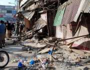 راولپنڈی: ٹی ایم اے کی جانب سے راجہ بازار میں تجاوزات کے خلاف آپریشن ..