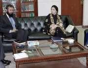 لاہور: صوبائی وزیر خزانہ عائشہ غوث پاشا سے سعودی پورٹ فولیو سیکورٹیز ..