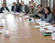 لاہور: صوبائی وزیر خزانہ عائشہ غوث پاشا سکل مانیٹرنگ کمیٹی کے دوسرے ..