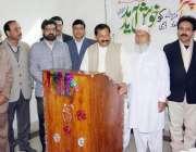 لاہور: صوبائی وزیر کوآپریٹو محمد اقبال چنٹر ایپکا یونٹ میو ہسپتال کے ..