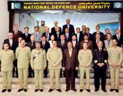 اسلام آباد: نیشنل ڈیفنس یونیورسٹی میں قومی سلامتی کورس کے سویلین گریجوایٹس ..