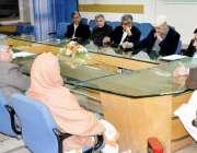 پشاور: صوبائی وزیر شہرام خان ترکئی ٹیچنگ ہسپتال سے متعلق اجلاس کی صدارت ..