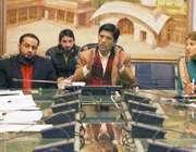 لاہور: ڈی سی او لاہور کیپٹن (ر) محمد عثمان ، ایم این اے شائستہ پرویز ملک ..