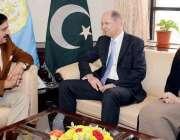 اسلام آباد: قومی سلامتی کے مشیر جنرل (ر) ناصر خان جنجوعہ سے برطانوی ہائی ..
