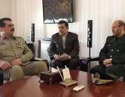 تہران: آرمی چیف جنرل راحیل شریف اور ایرانی وزیر دفاع حسین دہقان خطے ..