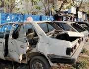 راولپنڈی: پولیس کی نا اہلی نیو ٹاؤن میں مختلف مقدمات میں بند گاڑیاں ..