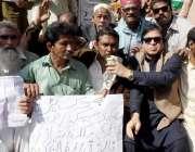 حیدر آباد: مسلم لیگ (ن) کے کارکنان کی طرف سے حیسکو کے خلاف جاری بھوک ہڑتالی ..