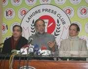 لاہور: پاکستان پیپلز پارٹی کے مرکزی رہنما قمرالزمان کائرہ کا پریس کلب ..