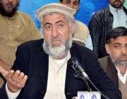 پشاور: انجمن تاجران باڑہ خیبر ایجنسی کے صدر یار اصغر آفریدی پریس کانفرنس ..