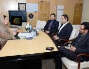 اسلام آباد: وزیر مملکت برائے انفارمیشن ٹیکنالوجی انوشہ رحمان سے ذیشان ..