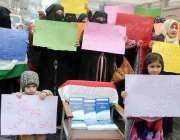 پشاور: تحریک منہاج القرآن خواتین ونگ چارسدہ حملے کے خلاف احتجاجی مظاہرہ ..