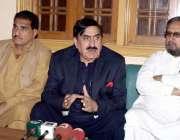 حیدر آباد: عوامی نیشنل پارٹی کے صوبائی صدر سینیٹر شاہی سید حیدر آباد ..