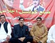حیدر آباد: عوامی نیشنل پارٹی کے صوبائی صدر سینیٹر شاہی سید، لالا اورنگزیب ..