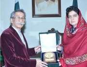 سپیکرقومی اسمبلی رانا محمد اقبال خان بلوچستان اسمبلی کی سپیکر رحیلہ ..