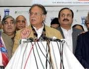 لاہور: وفاقی وزیر اطلاعات و نشریات سینیٹر پرویز رشید ایکسپو سینٹر میں ..